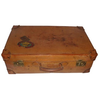 Old English Leather Suitcase