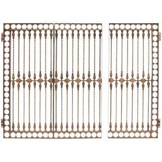 Antique Solid Bronze Three-Panel Gate