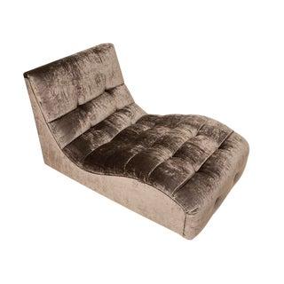 Mid-Century Tufted Velvet Chaise Lounge