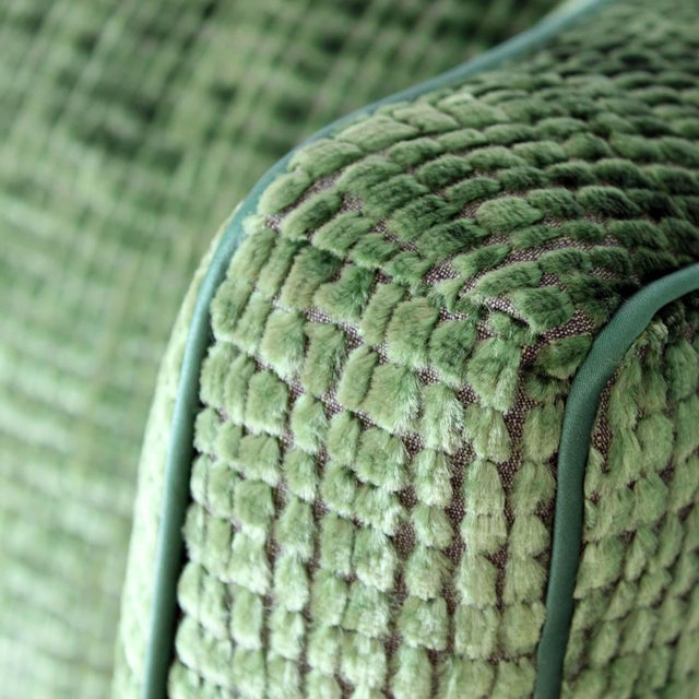 Upholstered Wingback Club Chairs - A Pair - Image 6 of 7
