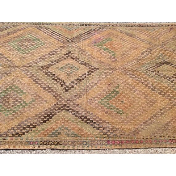 Vintage Turkish Kilim Rug - 5′4″ × 10′4″ - Image 4 of 6
