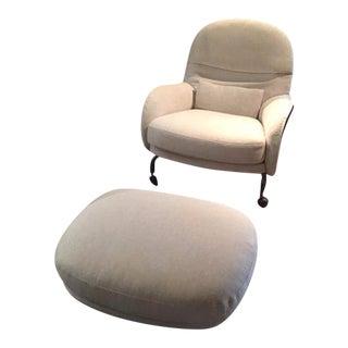 DePadova Modern Louisiana Armchair & Pouf