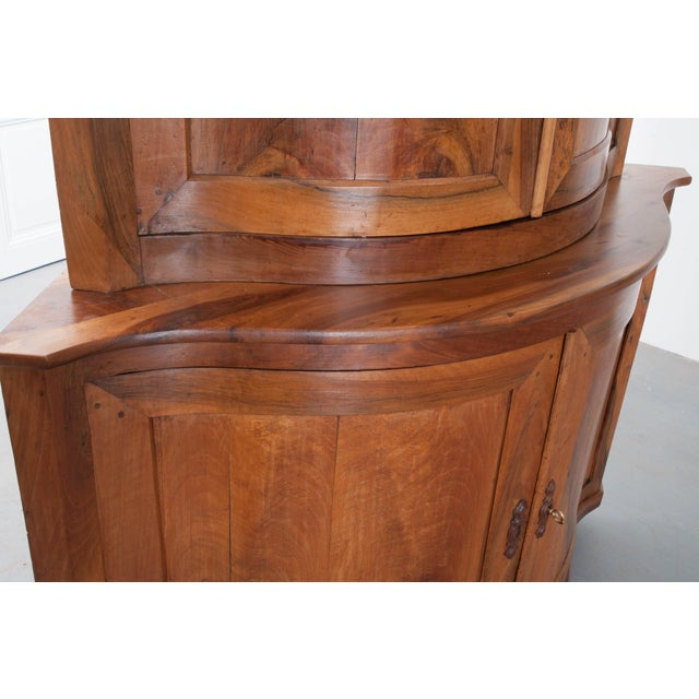PAIR OF FRENCH 19TH CENTURY WALNUT CORNER CABINETS - Image 7 of 10