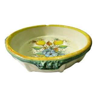 Large Italian Hand Painted Ceramic Serving Dish