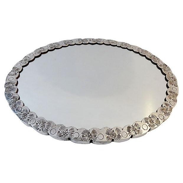 Large Silver Hand Mirror - Image 2 of 6