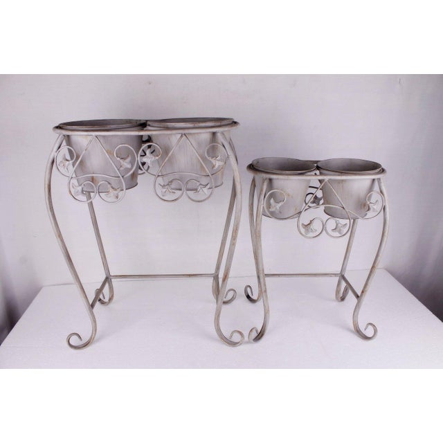 Vintage Wrought Iron Iron Plant Stand - Pair - Image 2 of 6