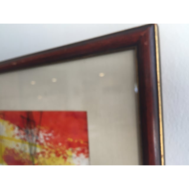 Image of Mid-Century Modern Signed Water Color Painting