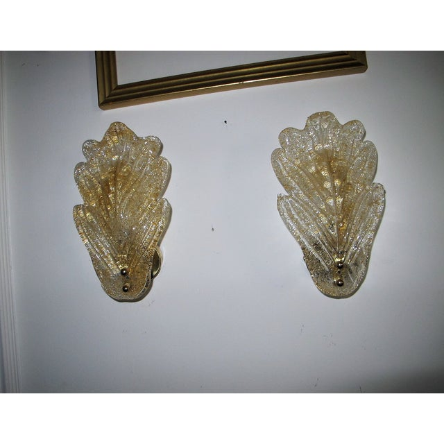 1970s Murano Sconces - S/2 - Image 2 of 5