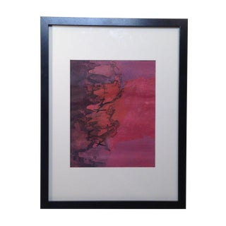 """""""No. 4"""" Vintage Modernist Abstract Etching"""