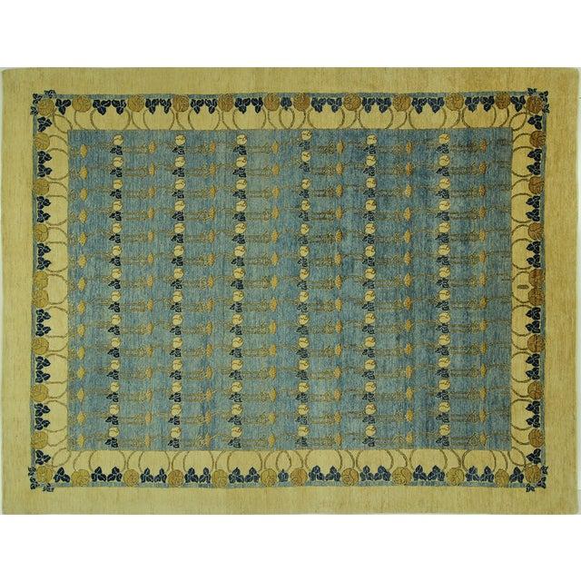 Super Gabbeh Blue Wool Rug - 9' x 12' - Image 1 of 10