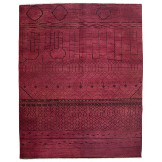 """Moroccan, Hand Knotted Area Rug - 8'1"""" X 10'"""