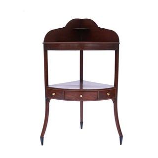 English Mahogany Corner Washstand Georgian Table