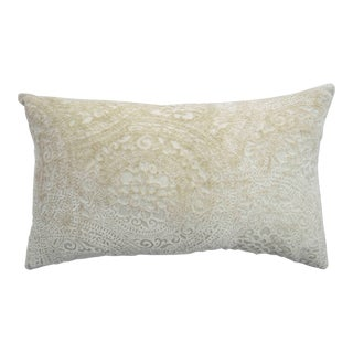 Italian Cream Lace Linen Velvet Pillow