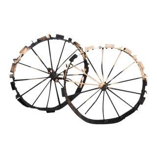 Old Wrought Iron Wagon / Tracker Wheel