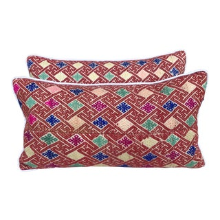Hmong Patterned Pillows - A Pair