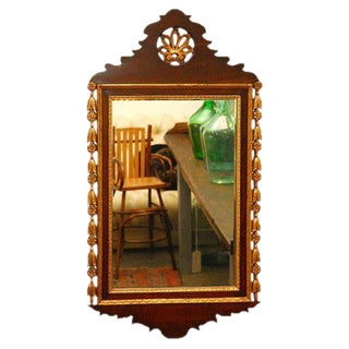 Carved and Gilded Wall Mirror
