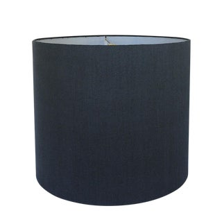 New, Made to Order, Navy Linen, Large Drum Shade