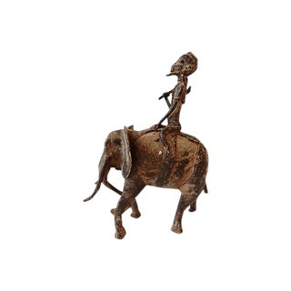 Dogon Bronze Man on Elephant