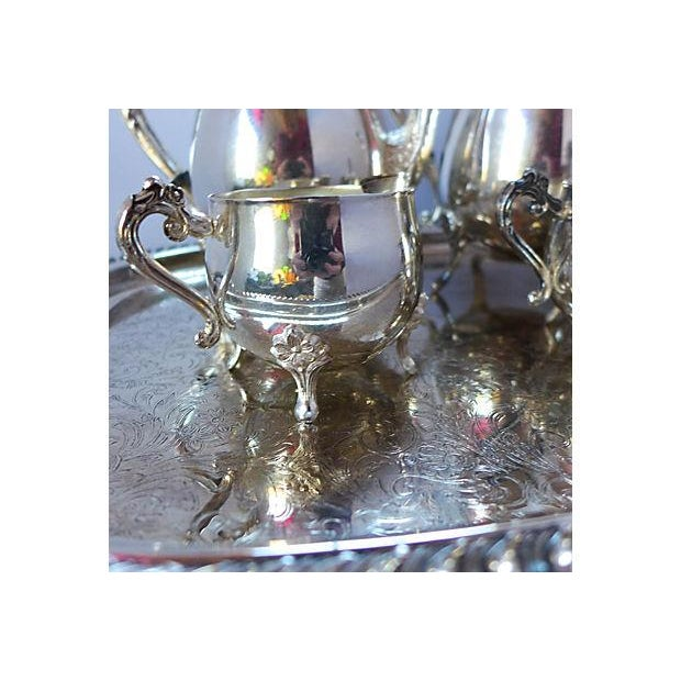 Image of Vintage Five-Piece Silver Plate Tea & Coffee Set