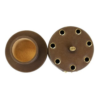 Gucci Leather Pipe Holder With Brass Horsebit