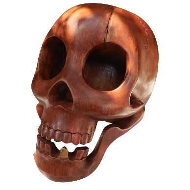Contemporary Wood Skull - Image 1 of 7