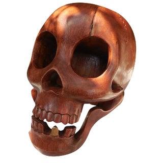 Contemporary Wood Skull