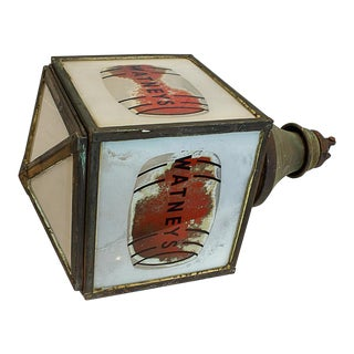 Watney's Red Barrel Pendant Lamp, Circa 1935