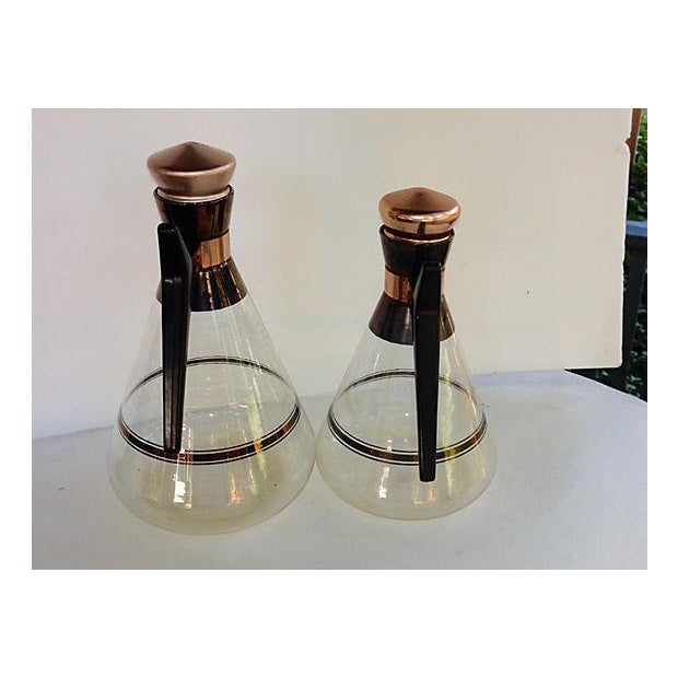 Image of Danish Modern Glass Carafes - Pair