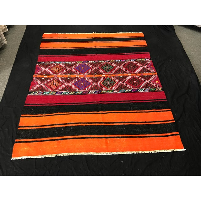 Turkish Kilim Rug - 4'10'' X 5'10''