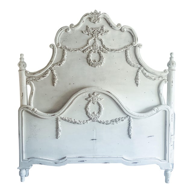 Image of French Cottage Style King Bed Frame