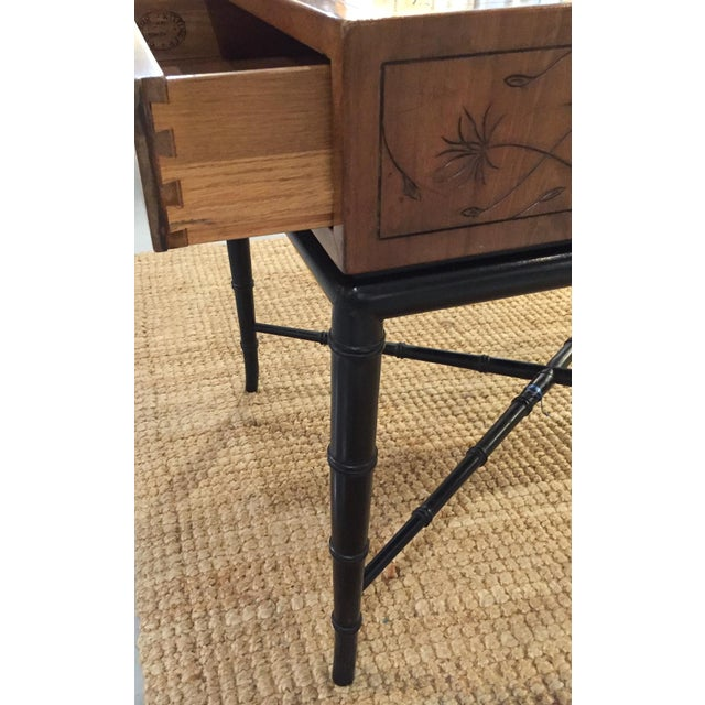 Mid-Century, Signed Kittinger Faux Bamboo Side Table - Image 5 of 8