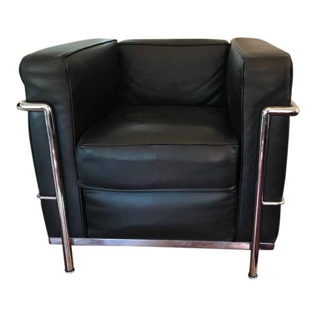 cassina lc2 petit modele armchair chairish. Black Bedroom Furniture Sets. Home Design Ideas