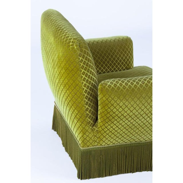 1940s French Green Upholstered Armchairs - A Pair - Image 8 of 10