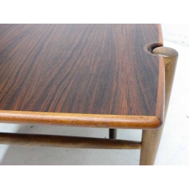 Dux Mid-Century Coffee Table with Cane Shelf - Image 7 of 10
