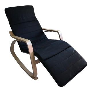Bentwood Rocking Lounge Chair With Adjustable Footrest