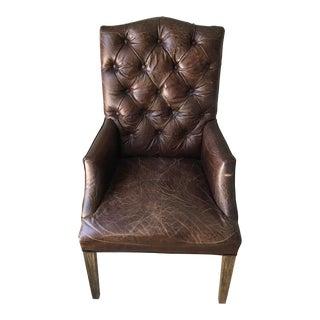 Restoration Hardware Bennett Camelback Leather Arm Chair