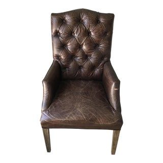 Restoration Hardware Bennett Camelback Leather Arm Chair