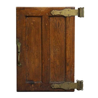 Antique Bronze Hardware Wooden Refrigerator Door