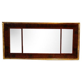 1840's Mahogany and Gold Leaf Mantel Mirror