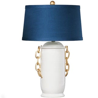 Ceramic Table Lamp With Gold Chains