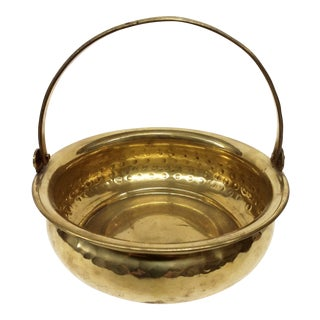 Vintage Hammered Solid Brass WM Rogers Planter