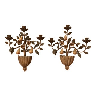 Wall Sconce Candle Holders Sconces - A Pair