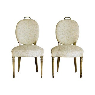 Edwardian Brass Rope Handle Chairs - A Pair