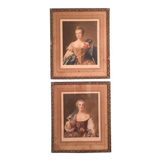 1930s Signed French Copper Plate Prints - a Pair