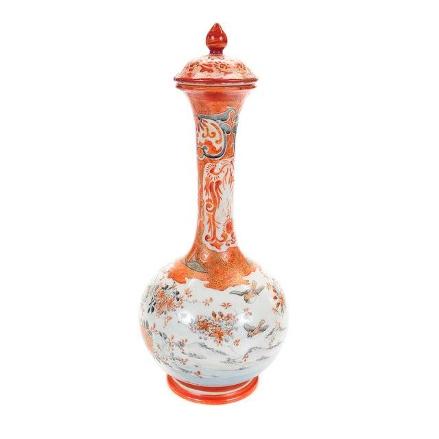 Image of Kutani 19th C. Japanese Porcelain Urns - A Pair