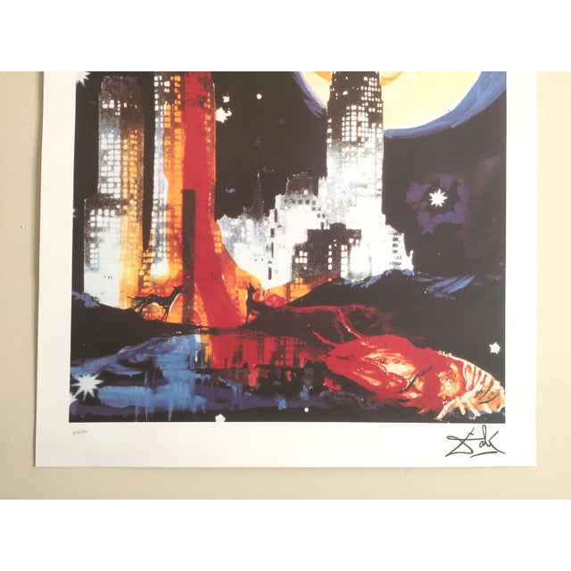 "Salvador Dali ""Manhattan Skyline Tarot the Moon"" Original Limited Edition Lithograph - Image 4 of 8"