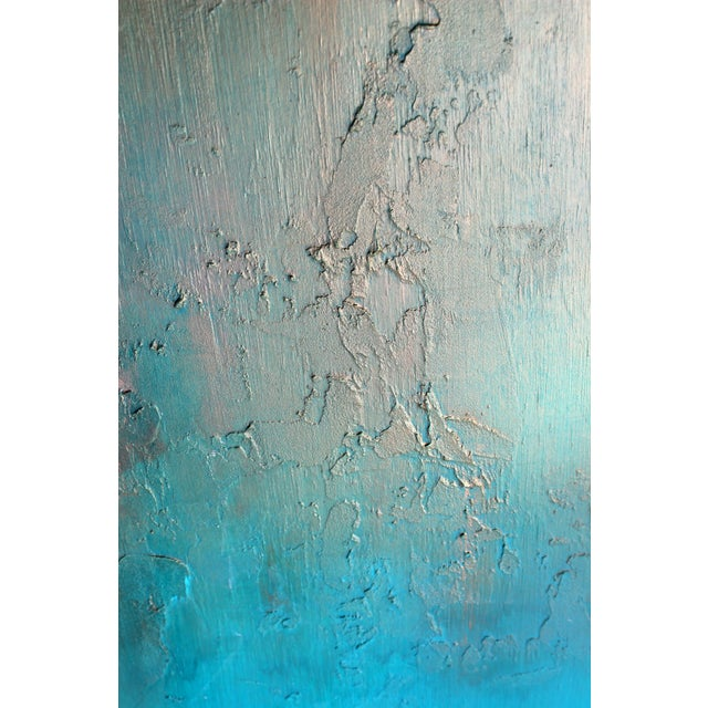 """Bronzed Earth"" Original Abstract Painting - Image 3 of 3"