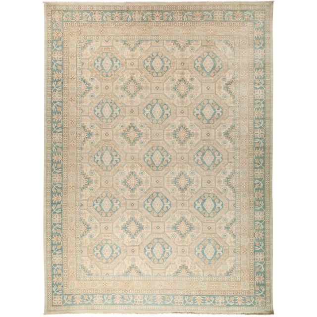 """New Khotan Hand Knotted Area Rug - 10'3"""" x 13'10"""" - Image 1 of 3"""