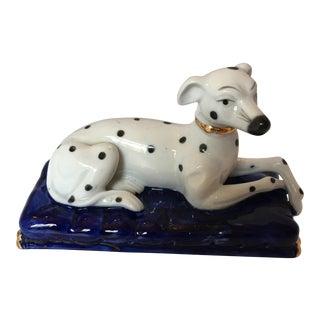 Porcelain Dalmatian on Cushion