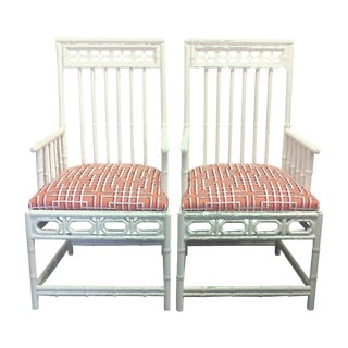 Chinese Chippendale Occasional Chairs - A Pair